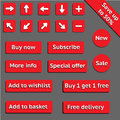 Buy web red buttons for website or app Royalty Free Stock Photo