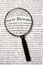 Buyer Beware Royalty Free Stock Photo