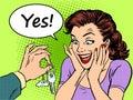 Buying car woman reaction joy keys gift