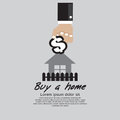 Buying home vector illustration concept eps Royalty Free Stock Image