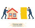 Buying house. vector