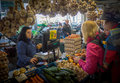 Buying vegetables Royalty Free Stock Photo
