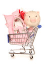 Buying for your new baby girl Royalty Free Stock Photo