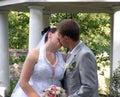 Buziak romantyczny Fotografia Royalty Free