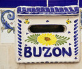 Buzon mailbox postbox or letter box in spain Stock Image