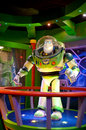 Buzz lightyear this picture of was taken in the lazer ride in disney paris in june seen hear from Royalty Free Stock Image
