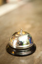 Buzzer or bell on front desk in hotel Royalty Free Stock Photo