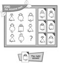 BW find the missing item cat Royalty Free Stock Photo