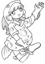 BW - Manga Kid with a Fish Costume Stock Image