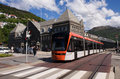 Bybanen light rail in Bergen, Norway Stock Photography