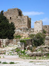Byblos Crusader Castle, (Lebanon) Royalty Free Stock Photo