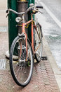 Bycicle an old in a tranquil italian city Royalty Free Stock Images