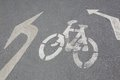 Bycicle road sign. Royalty Free Stock Photo