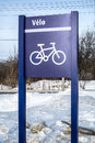 Bycicle road sign Royalty Free Stock Photo