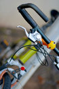 Bycicle s details a close up in an italian street Royalty Free Stock Image