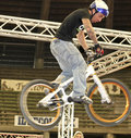 Bycicle stunt Stock Photography