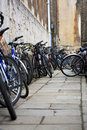 Bycicles on a cobblestone pavament Stock Image