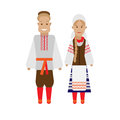 Byelorussian national dress illustration of costume on white background Royalty Free Stock Photography