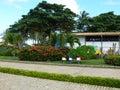 Byggande landskap som är tropiskt Royaltyfri Foto