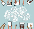 BYOD Bring your own Device Tablets Icon Cloud and
