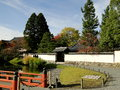 Byodo in temple japan autumn scenery Stock Images