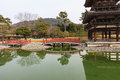 Byodoin temple in winter season japan uji kyoto famous byodo buddhist a unesco world heritage site phoenix hall building Royalty Free Stock Photos