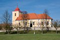 Byst czech republic church of st george in village eastern bohemia Stock Photos