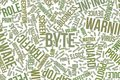 Byte, conceptual word cloud for business, information technology or IT. Royalty Free Stock Photo