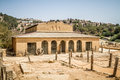 Byzantine basilica in the Biblical Shiloh, Israel Royalty Free Stock Photo