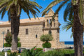 Byzantine church with belfry in the town of zakynthos greece Royalty Free Stock Photos