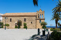 Byzantine church with belfry in the town of zakynthos greece Stock Photography