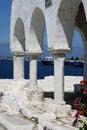 Byzantine church detail - Paros Island, Greece Royalty Free Stock Photo