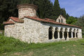 Byzantine church orthodoxe monastir of zvernetsi narte albania Royalty Free Stock Image