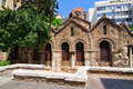 The byzantine church of panaghia kapnikarea is a greek orthodox and one oldest churches in athens Royalty Free Stock Images