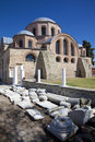 The Byzantine church of Panagia Kosmosoteira. Stock Photos