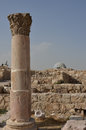 Byzantine church ruins amman of the at the citadel complex in jordan Stock Photos