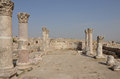 Byzantine church ruins amman of the at the citadel complex in jordan Royalty Free Stock Image