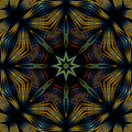 Byzantine compass mandala Royalty Free Stock Images