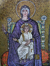 Byzantine icon mosaic in the Basilica of Sant Apollinare Nuovo Royalty Free Stock Photo