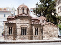Byzantine Kapnikarea Church in Athens, Greece Stock Photos