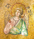 Byzantine mosaic of the archangel Raphael Royalty Free Stock Photo