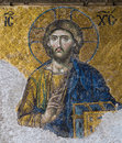Byzantine mosaic in the interior of Hagia Sophia in Istanbul, Tu Royalty Free Stock Photo