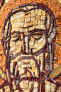 Byzantine mosaic of a saint apostle romania Royalty Free Stock Images