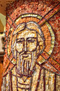 Byzantine mosaic of a saint apostle romania Royalty Free Stock Photography