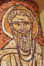 Byzantine mosaic of a saint apostle romania Royalty Free Stock Photo