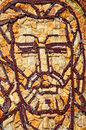 Byzantine mosaic of a saint apostle romania Stock Photos