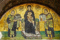 Byzantine mosaic of 13th century in Hagia Sophia in Istanbul Royalty Free Stock Photo