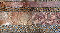 Byzantine mosaics on the floor of st nicholas church demre turkey Royalty Free Stock Images