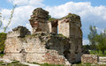 Byzantine ruins in edirne remains of ancient building turkey Stock Photo