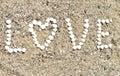 Cáscaras del amor Foto de archivo libre de regalías